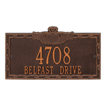 Claddagh Address Plaque Antique Copper