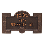 Failte Plaque Antique Copper