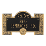 Failte Plaque Black Gold