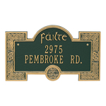 Failte Plaque Green Gold