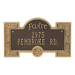 Failte Plaque Bronze Gold