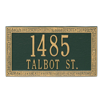 Celtic Cornerstone Plaque Green Gold
