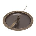 Fisher Boy Sundial & Birdbath French Bronze