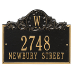Personalized Address Plaque with a Large Initial in Top Center