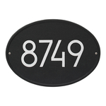 Modern Black Oval Address Plaque