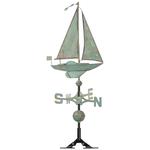 Sailboat Weathervane with a Patina Finish