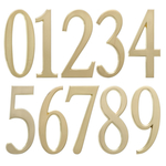 Individual Brass Address Numbers