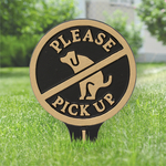 Please Pick up your Dogs Poop Yard Sign Black & Gold