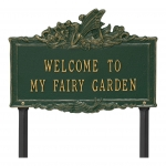Welcome to My Fairy Lawn Plaque Green & Gold