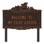 Welcome to My Fairy Lawn Plaque Oil-Rubbed Bronze