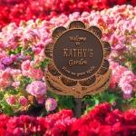 Garden Flower Lawn Plaque Antique Copper