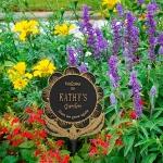 Garden Flower Lawn Plaque Black & Gold