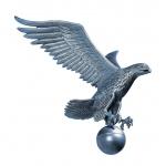 19 in. Medium Flagpole Eagle Pewter