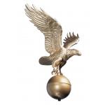12 in. Medium Flagpole Eagle Bronze Gold