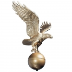 Flagpole Eagle Gold Bronze