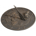 Frog Sundial Oil Rub Bronze