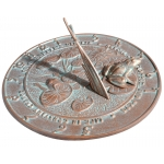 12 in. Frog Sundial Copper Verdigris