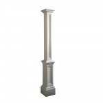 5837-W-Signature Lamp Post White-PS
