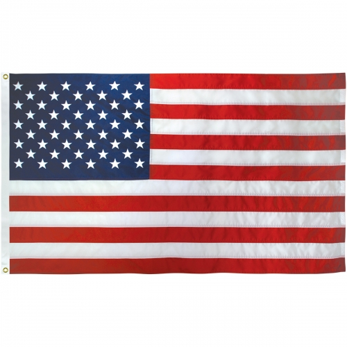 2-1/2ft. x 4ft. US Flag Nylon Heading & Grommets