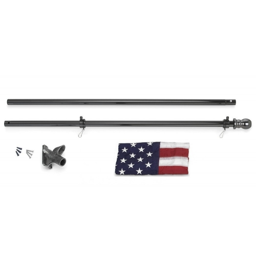 All-American 6 ft. U.S. Flag Kit - Black Finished Flagpole