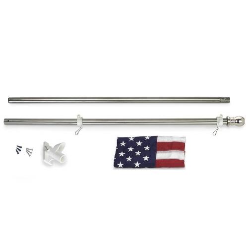 All-American 6 ft. U.S. Flag Kit - Tinted Steel Flagpole
