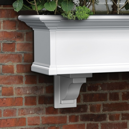 4821-W-Yorkshire Decorative Brackets White-LS