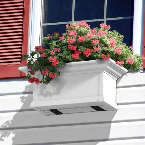 4822-W-Yorkshire 2' Window Box White-LS