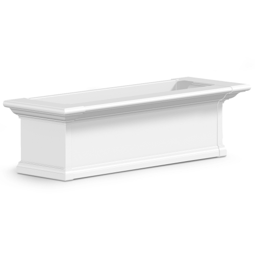 4823-W-Yorkshire 3' Window Box White-PS