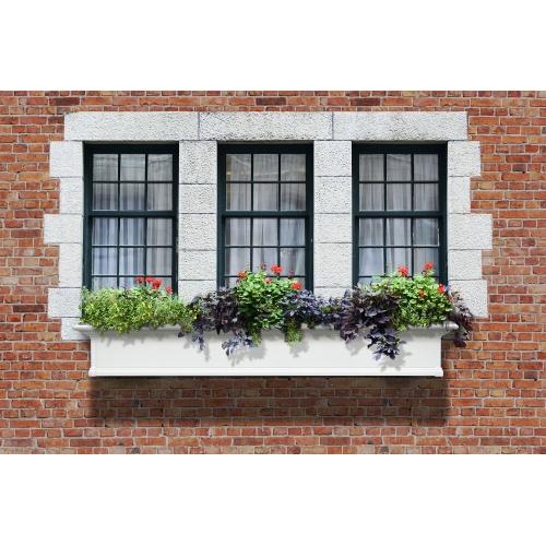4826-W-Yorkshire 6' Window Box White-LS